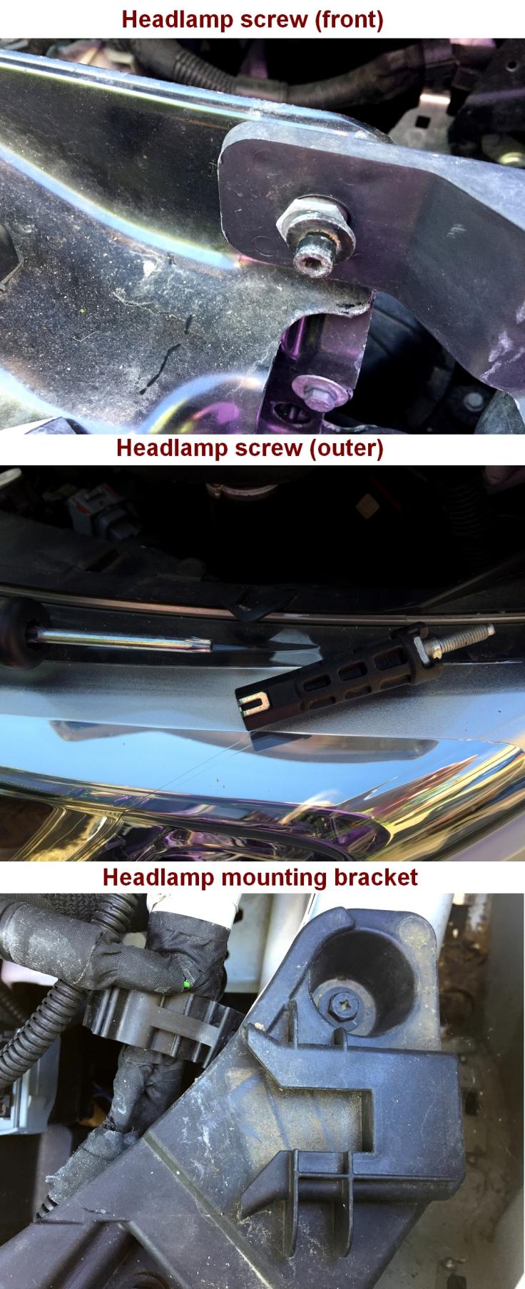 Ducato headlamp removal