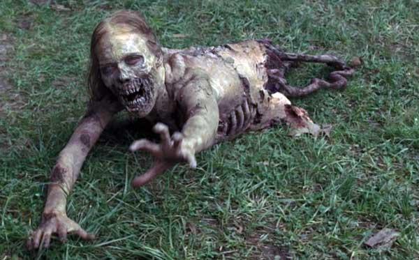 half-zombie-walking-dead